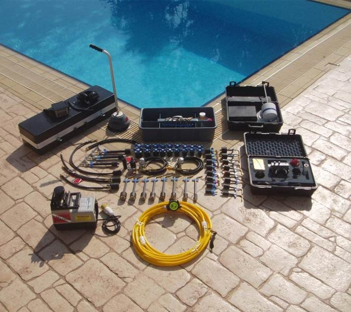 pool leak detection equipment