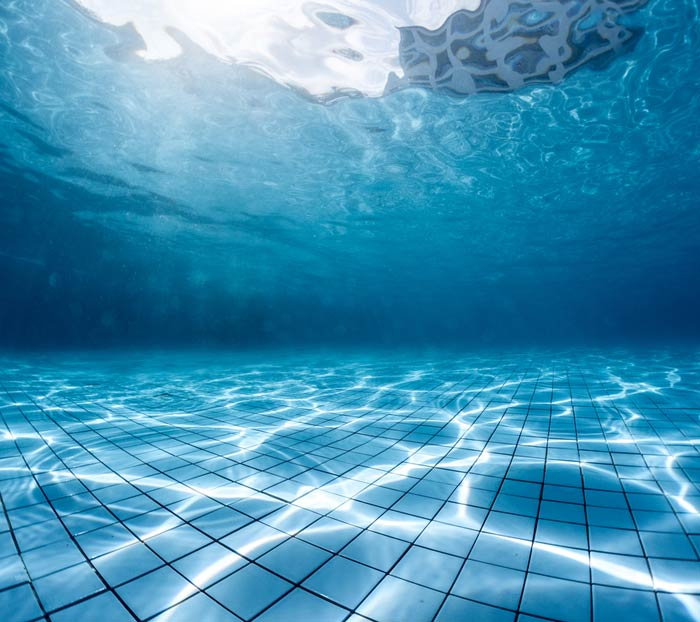 underwater view of pool